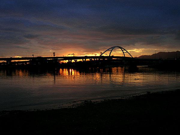 甲子園浜の日没