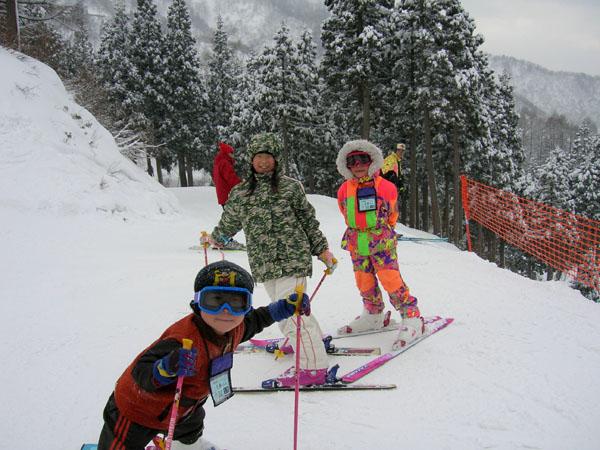 ちびっ子スキーヤー