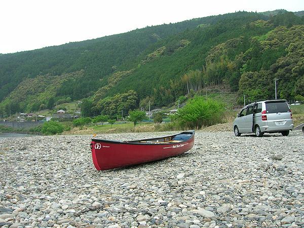 北山川の川原