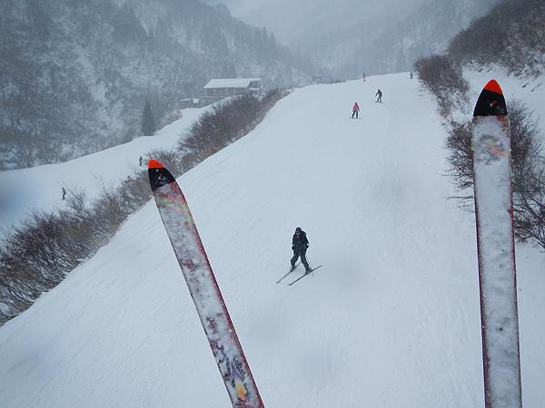 スキー初滑り