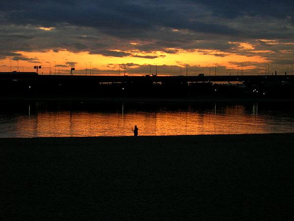 甲子園浜の黄昏